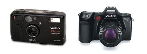 yashica T4 and Minolta Dynax 7000i